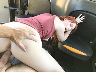 [FakeTaxi] Alex Harper – Hairy redhead pussy cum splattered